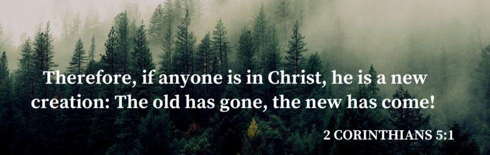 2 Corinthians 5:17 scripture banner