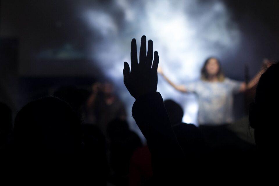 hands raised in praise of God